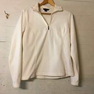 Land's End Quarter Zip Up Pullover Jacket